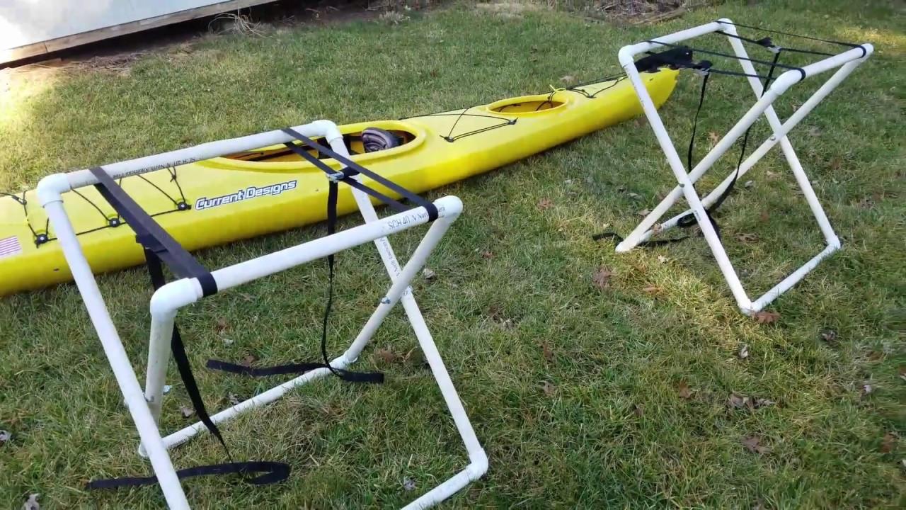 DIY Kayak Rack Pvc  DIY Portable PVC kayak stand