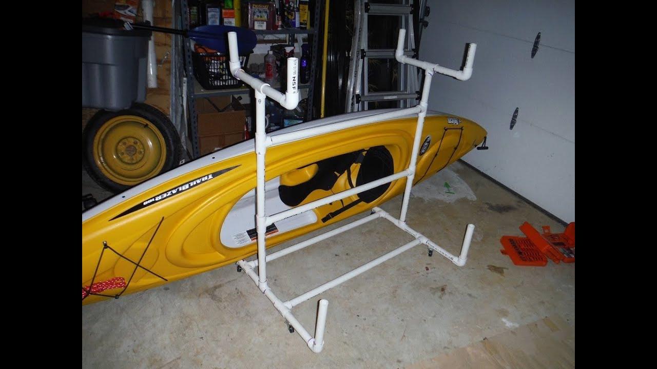 DIY Kayak Rack Pvc  Dual Kayak PVC Cart Rack