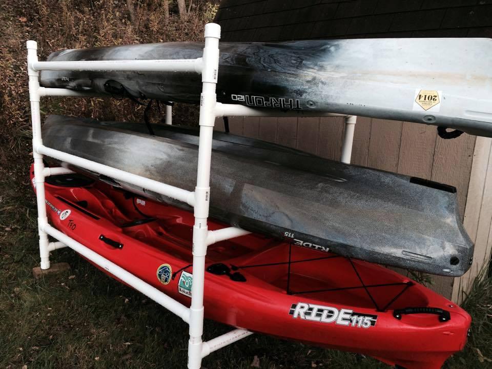 DIY Kayak Rack Pvc  Build a simple kayak rack from PVC Kayak Fishing Instructor