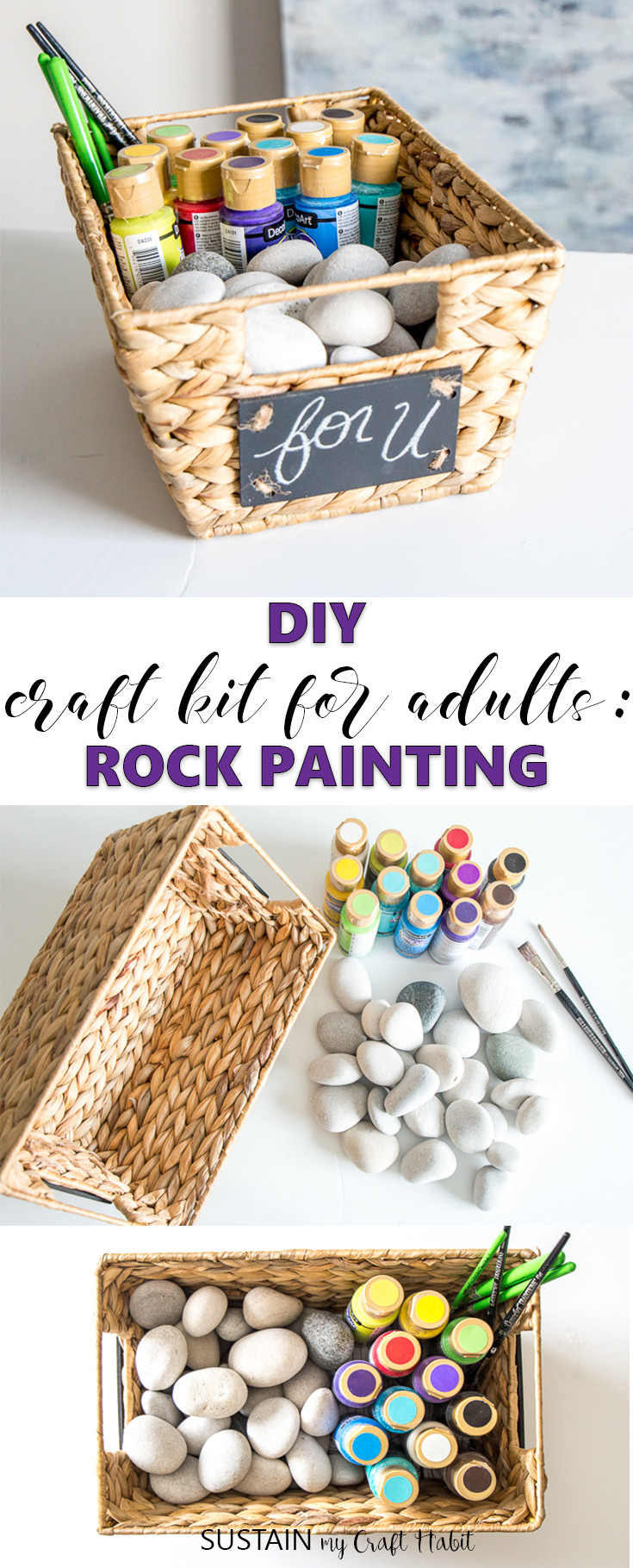 DIY Kits For Adults  Make your Own Craft Kit for Adults Rock Painting