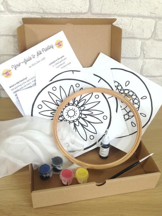 DIY Kits For Adults  Silk Painting Kit Adults Craft Kits Childrens Craft Kit