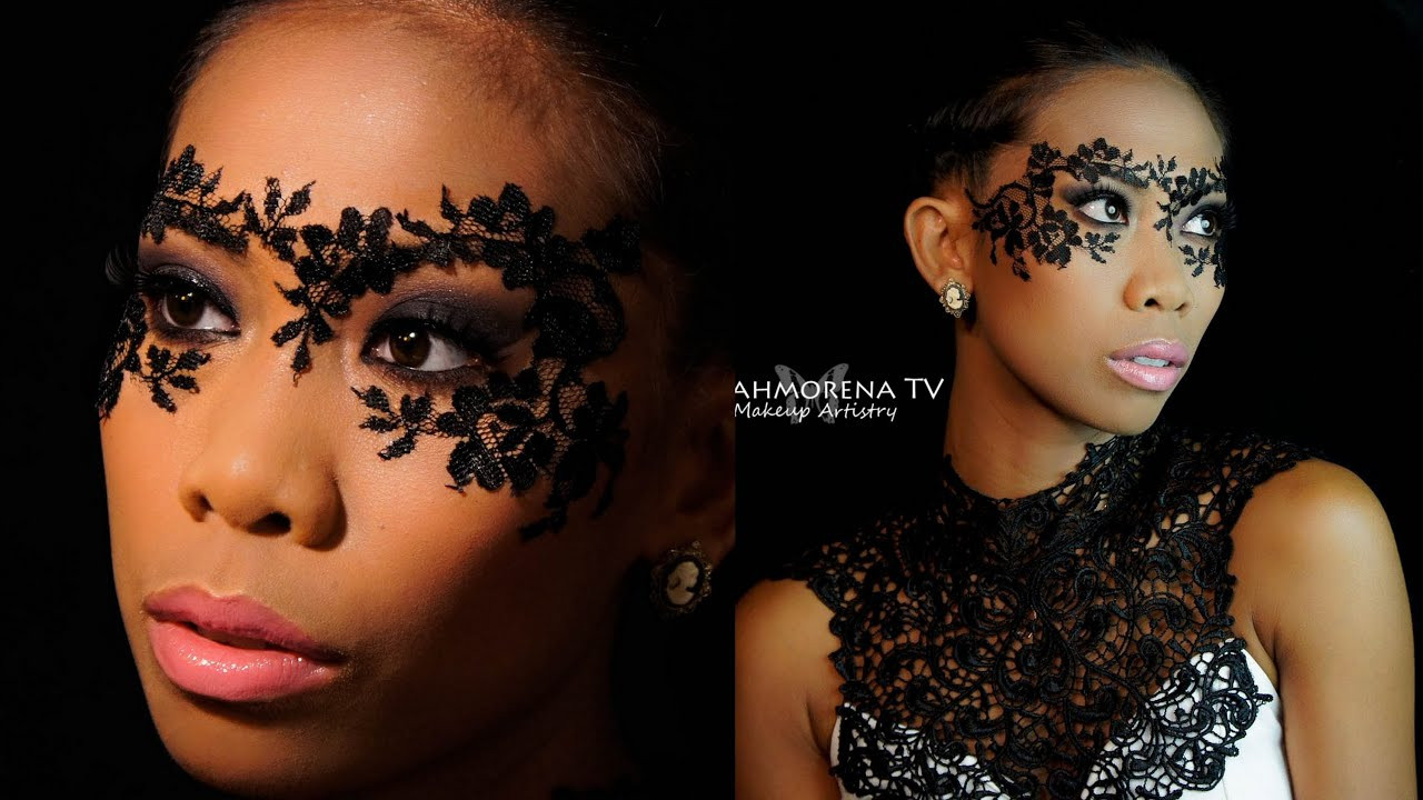 DIY Lace Mask  DIY Masquerade Lace Mask Makeup Tutorial