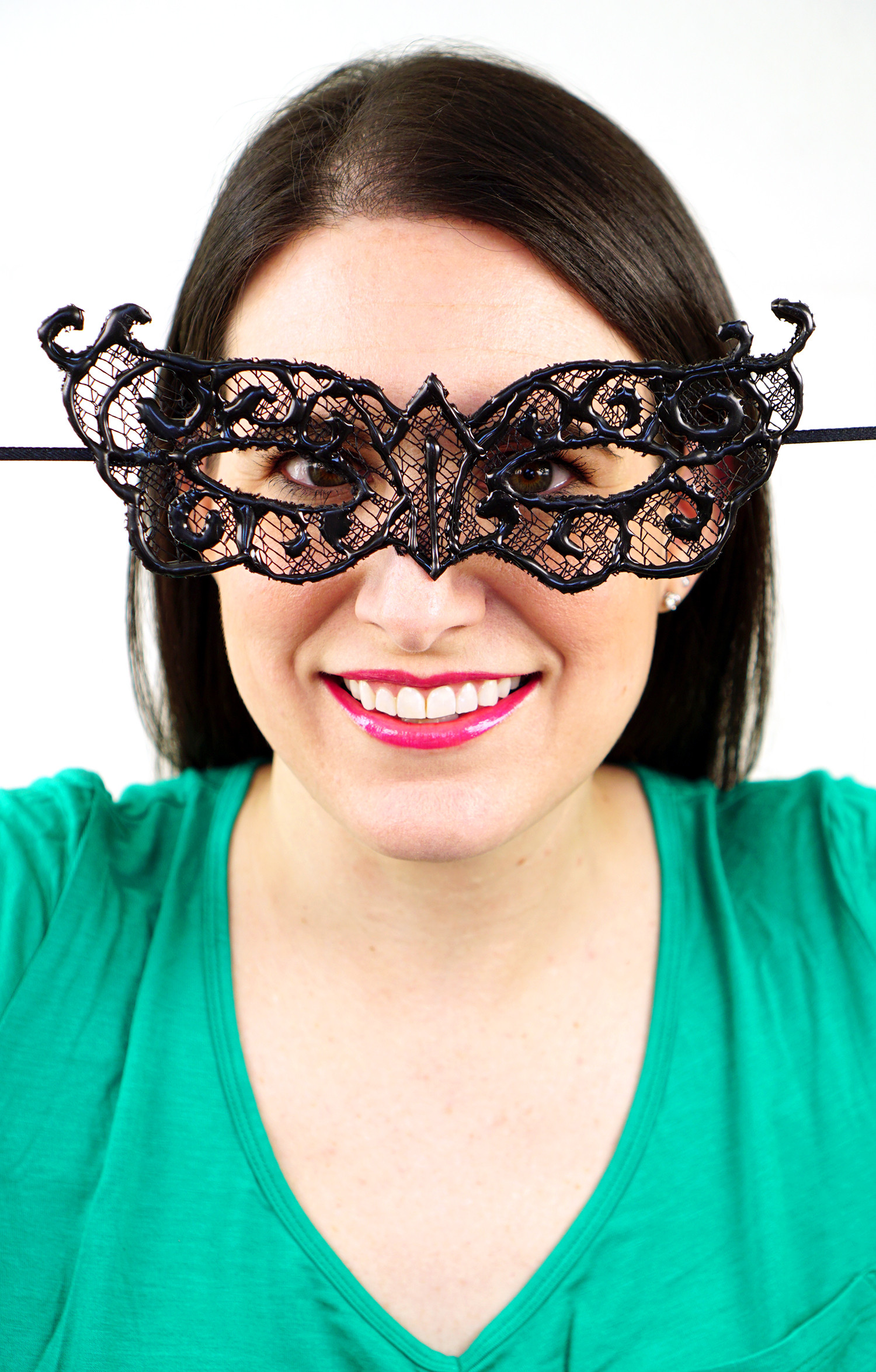 DIY Lace Mask  Easy DIY Lace Masquerade Mask from Hot Glue Happiness is