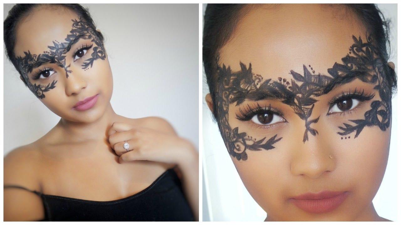 DIY Lace Mask  Lace Masquerade Mask DIY Halloween Makeup