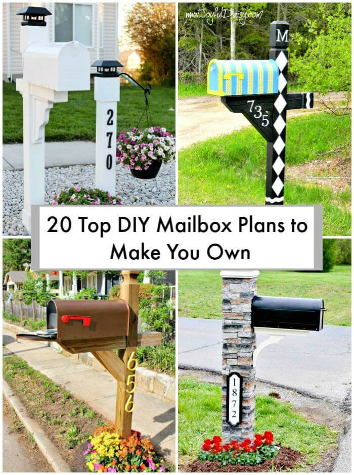 DIY Mailbox Ideas  20 Top DIY Mailbox Plans to Make You Own ⋆ DIY Crafts
