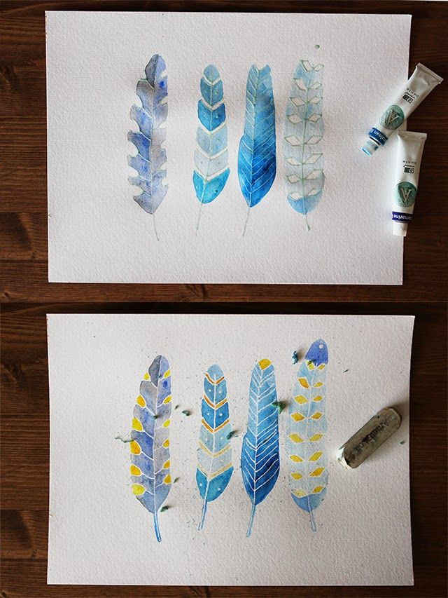 DIY Masking Fluid  use masking fluid to draw fine white lines on watercolor