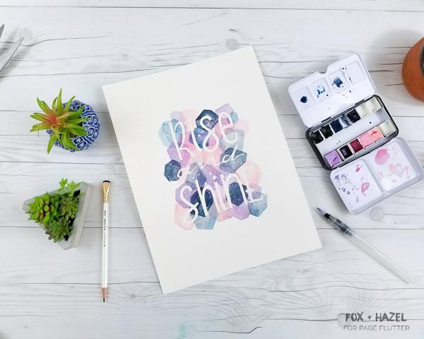 DIY Masking Fluid  Easy Masking Fluid Watercolor Art Tutorial