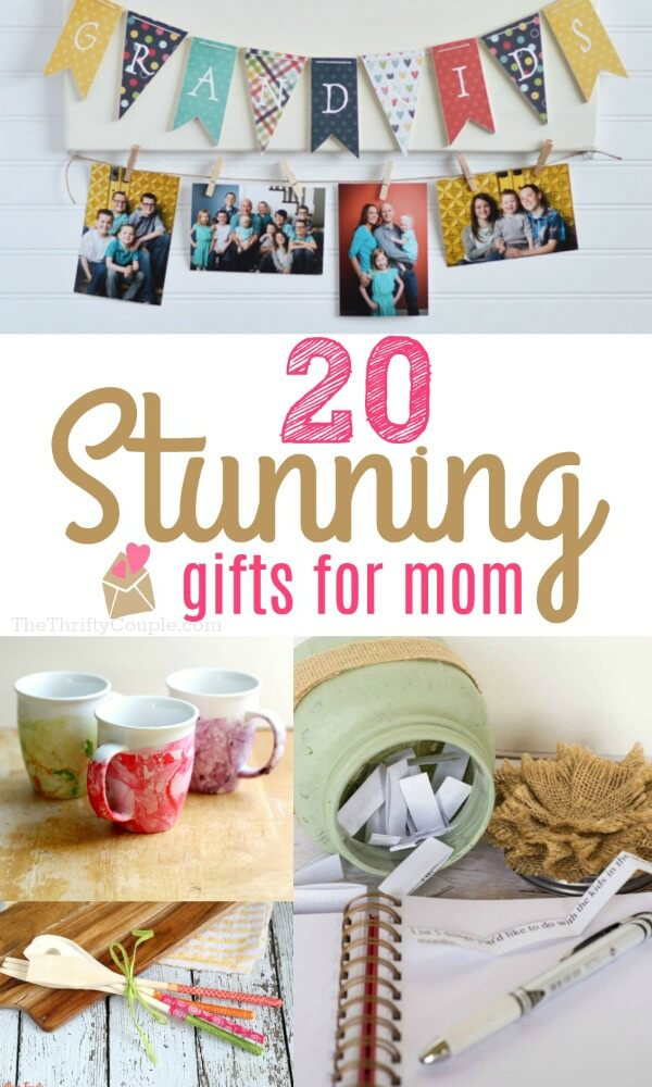 DIY Mother Gifts  20 Stunning DIY Gift Ideas for Mom The Thrifty Couple