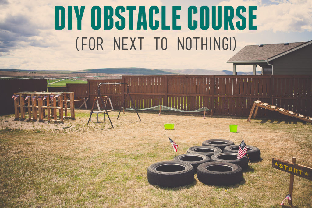 DIY Obstacle Course For Kids  Boy s Army Birthday Party