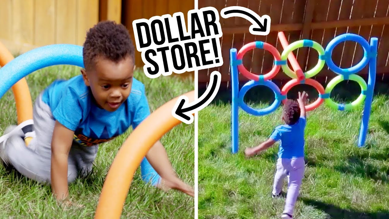 DIY Obstacle Course For Kids  DIY Dollar Store Backyard Obstacle Course HGTV Handmade