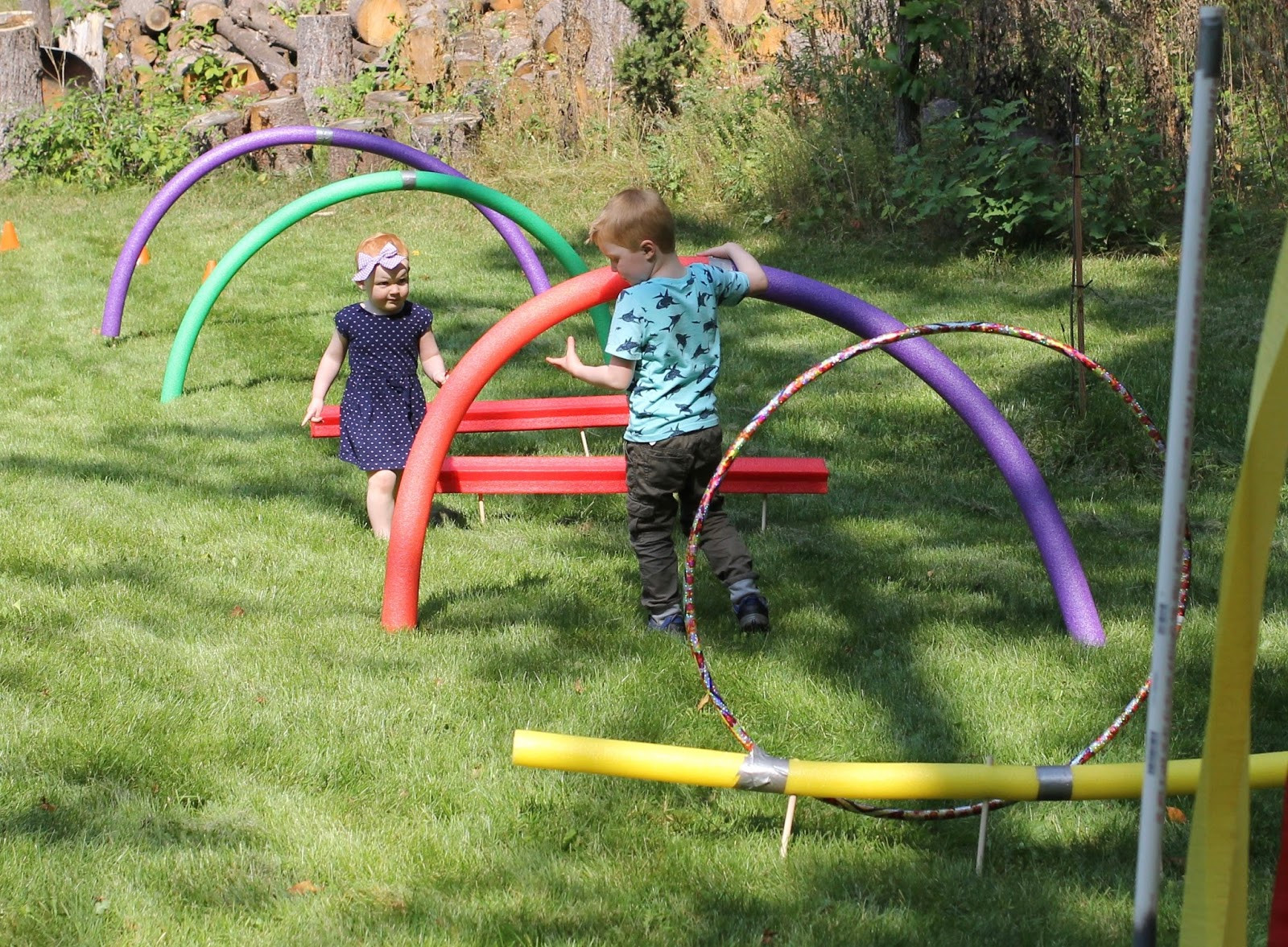 DIY Obstacle Course For Kids  DIY Obstacle Course for Kids · The Girl in the Red Shoes