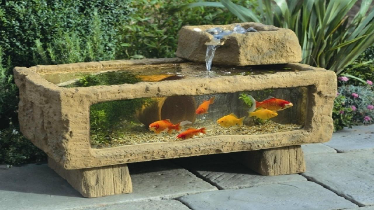 DIY Outdoor Aquarium  Outdoor patio gardens outdoor fish tank aquarium homemade