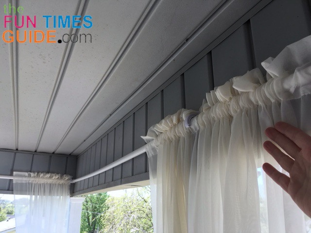 DIY Outdoor Curtain Rod  DIY Curtain Rods For Outdoor Porch Curtains See How I