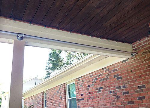 DIY Outdoor Curtain Rod  Pin on Outdoors