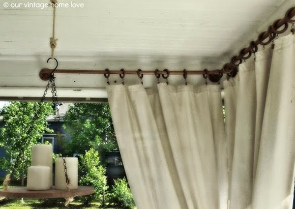 DIY Outdoor Curtain Rod  10 Amazing DIY Outdoor Furniture and Decor Ideas Setting