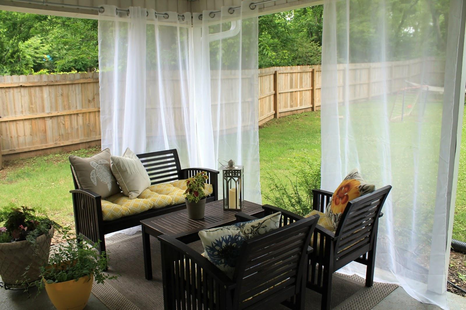 DIY Outdoor Curtain Rod  DIY Curtain Rod