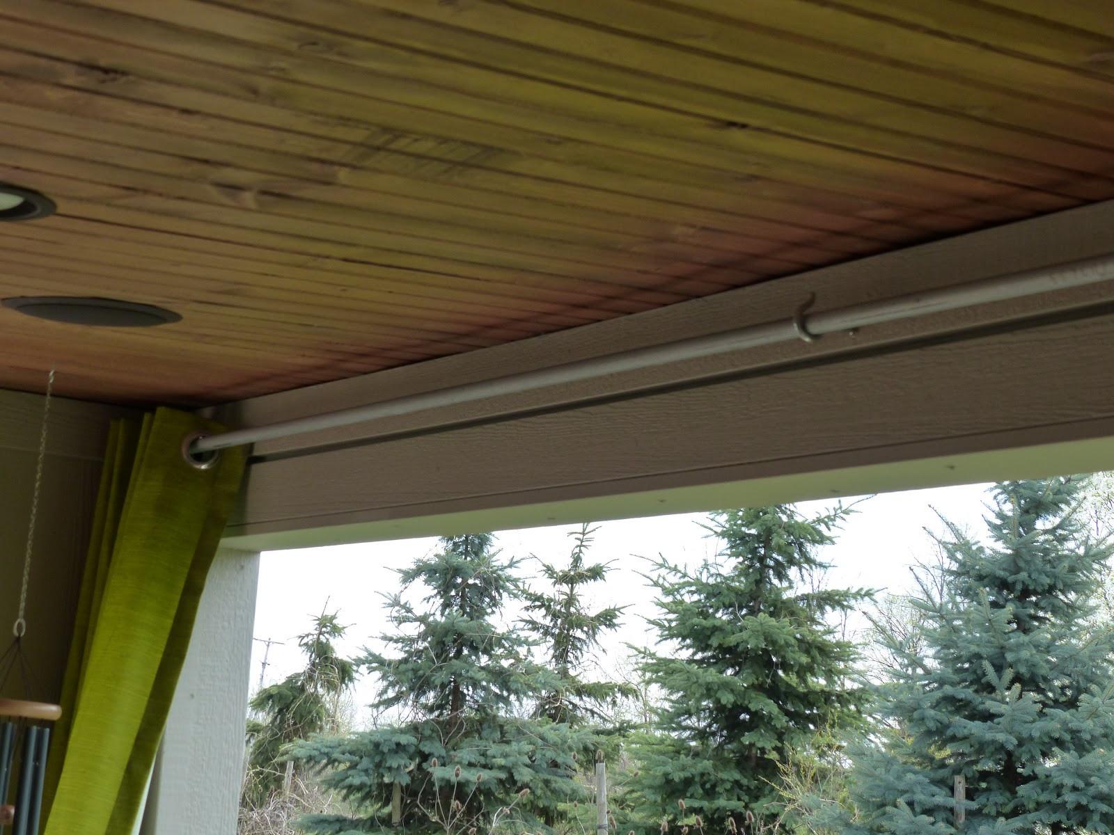 DIY Outdoor Curtain Rod  JULIE PETERSON Simple Redesign DIY BUDGET OUTDOOR