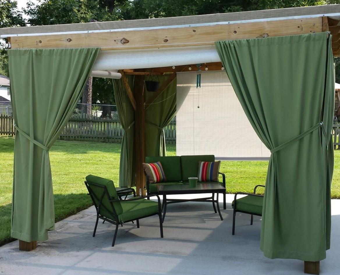 DIY Outdoor Curtain Rod  Outdoor Curtain Panels Inspiration – HomesFeed