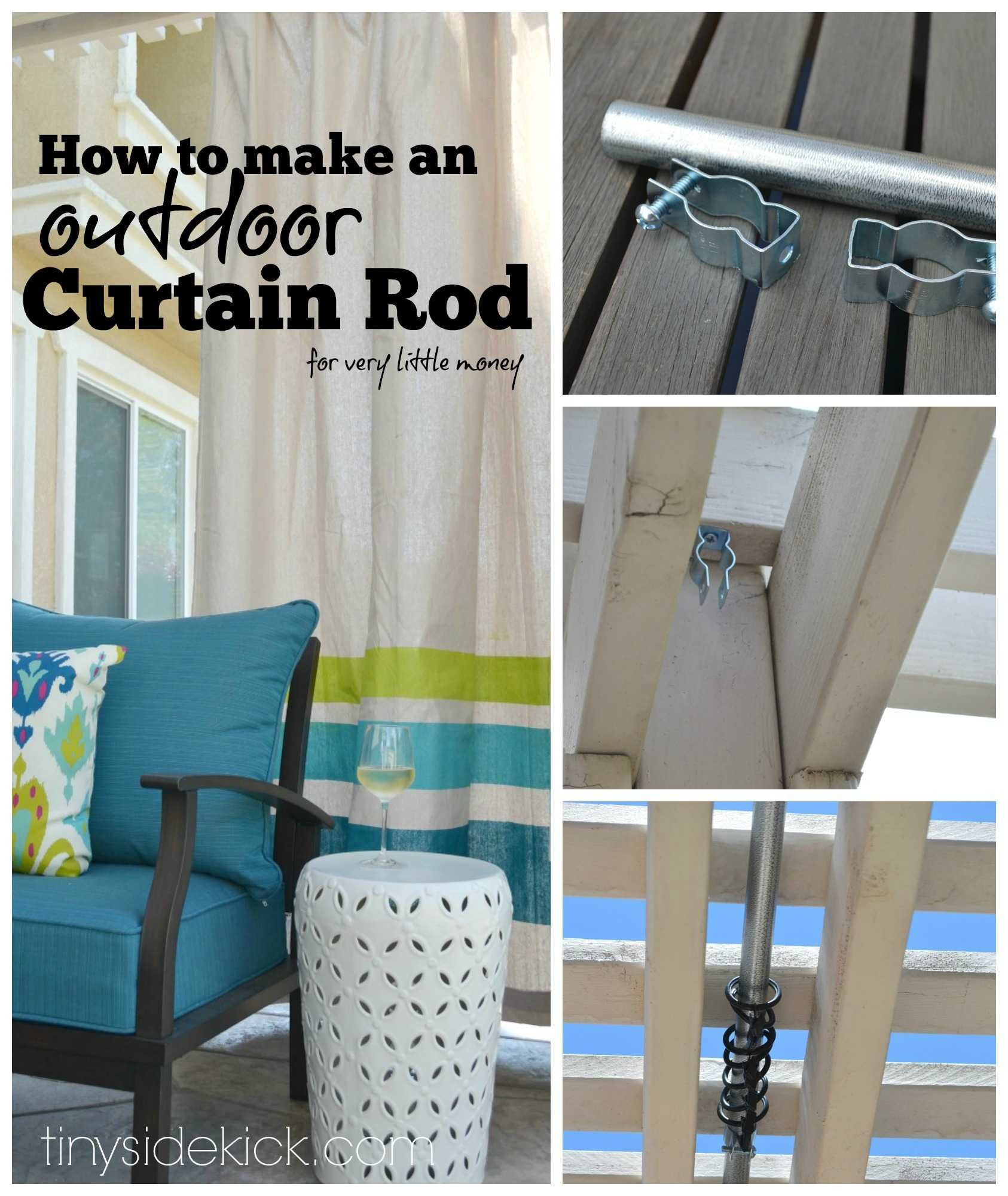 DIY Outdoor Curtain Rod  How to Make an Outdoor Curtain Rod for Very Little Money