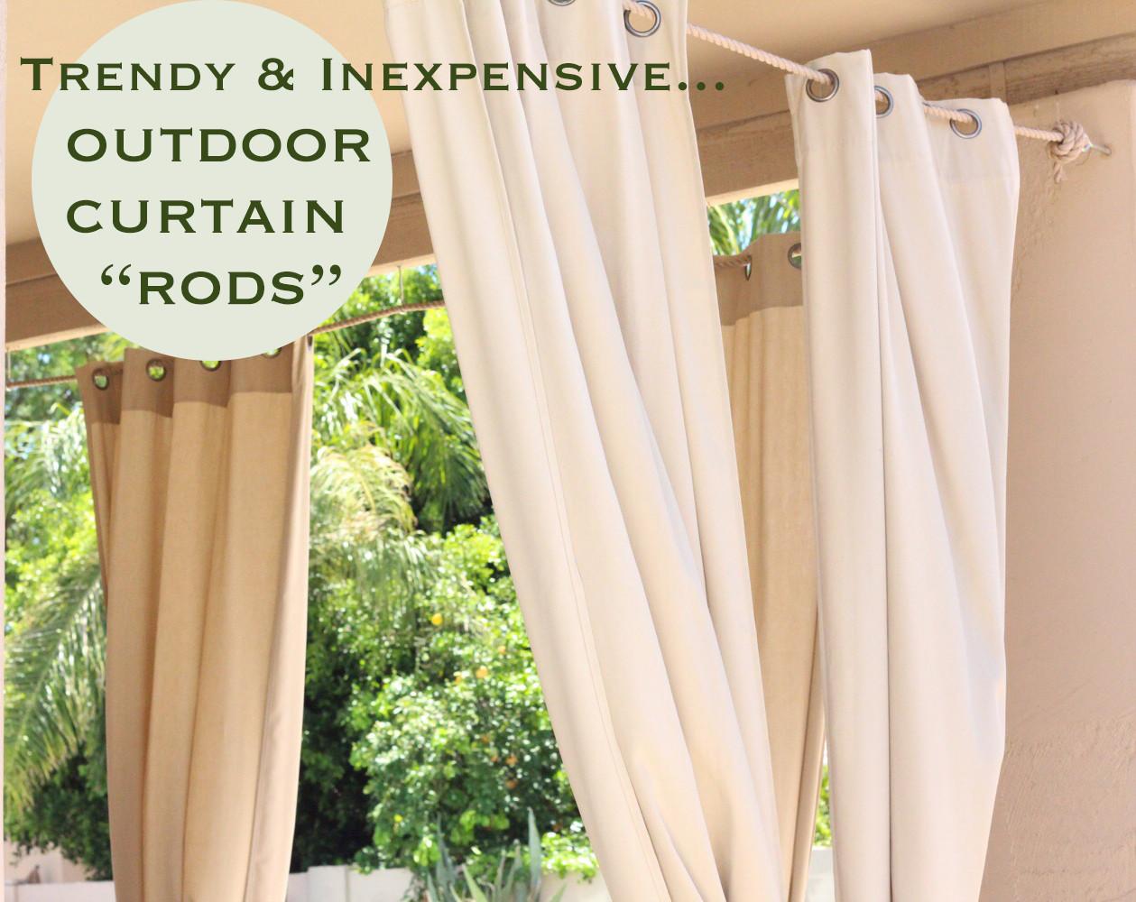 "DIY Outdoor Curtain Rod  Trendy & Inexpensive Outdoor Curtain ""Rods"" Retro"