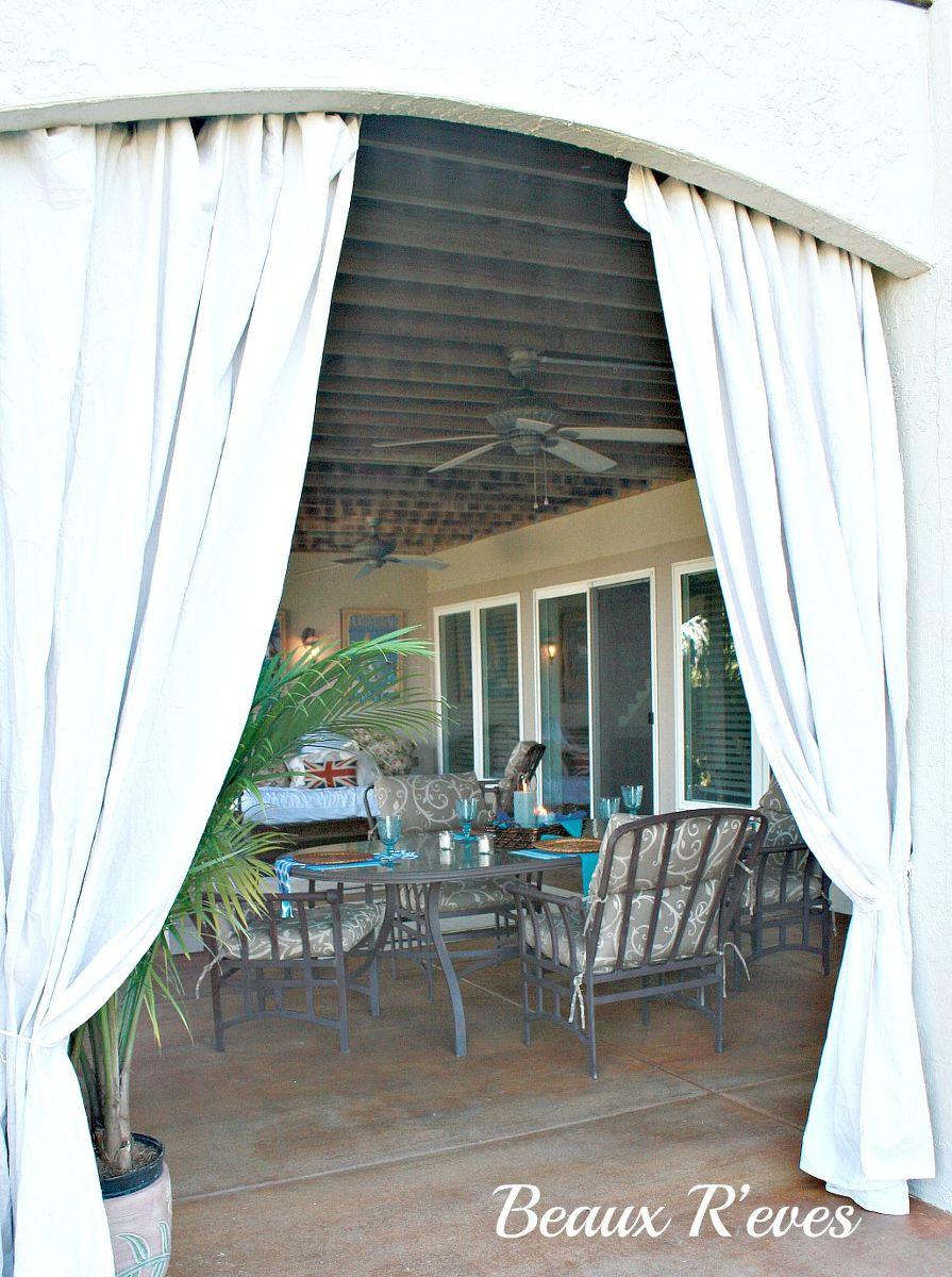 DIY Outdoor Curtain Rod  Hometalk