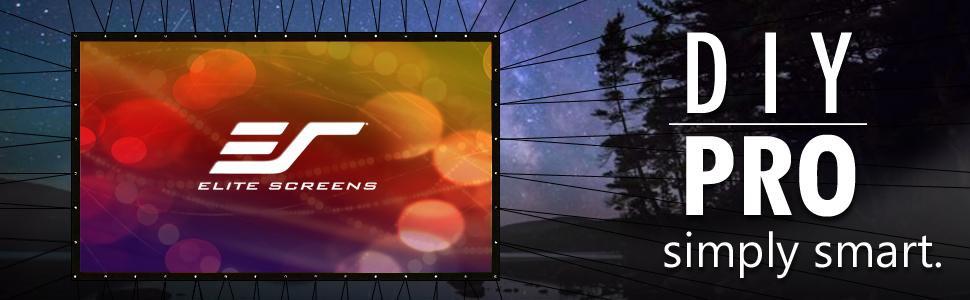 DIY Outdoor Movie Screen Material  Amazon Elite Screens DIY Pro Rear Series 96 inch 16