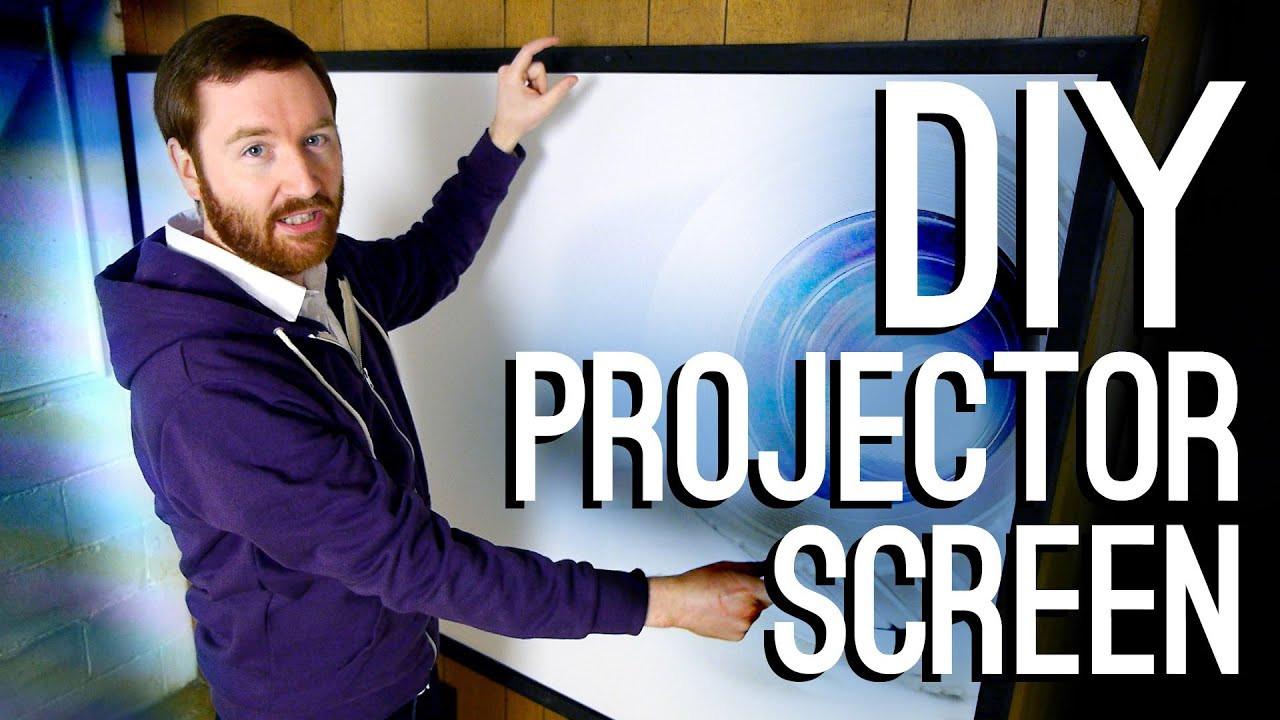 DIY Outdoor Movie Screen Material  How to Build a DIY Projector Screen