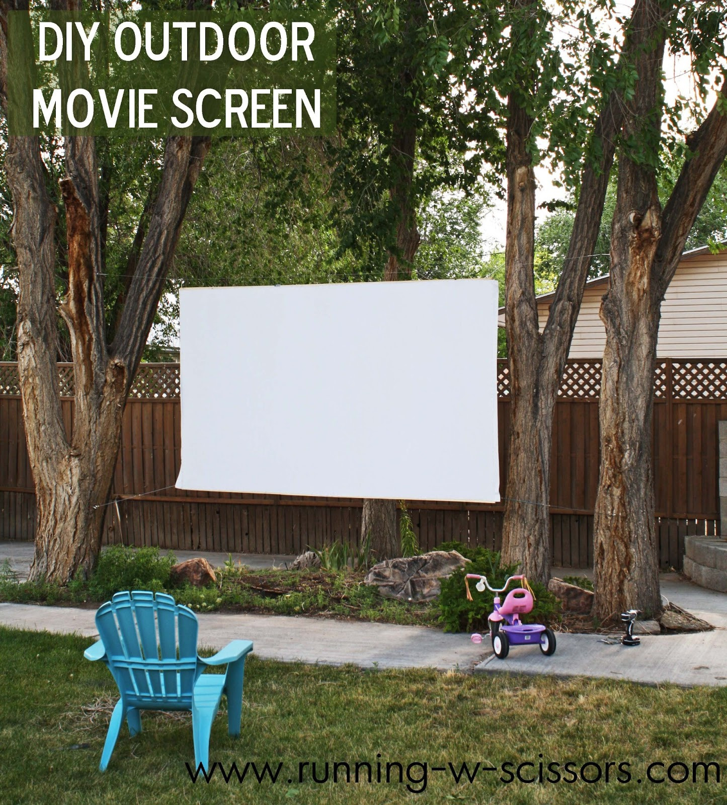 DIY Outdoor Movie Screen Material  Running With Scissors DIY Outdoor Movie Screen