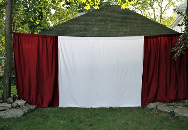 DIY Outdoor Movie Screen Material  DIY Outdoor Movie Screen Weekend Projects Bob Vila