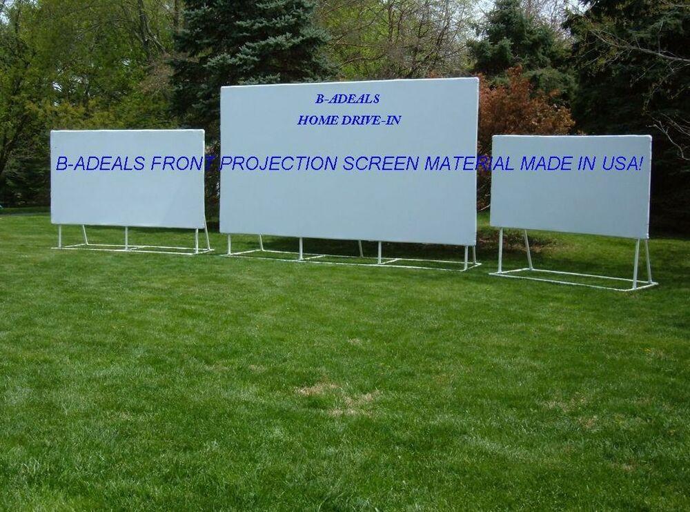 DIY Outdoor Movie Screen Material  HD PROJECTION PROJECTOR SCREEN MATERIAL DIY FIXED PORT IN