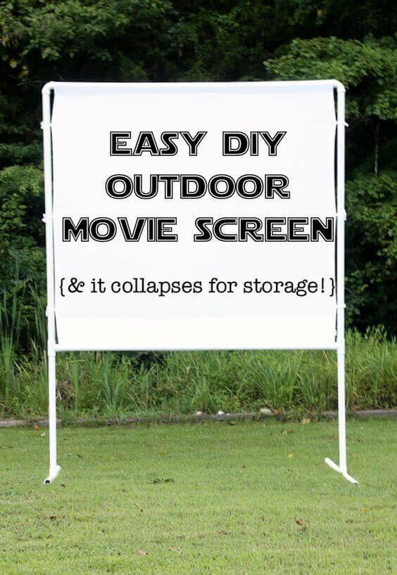 DIY Outdoor Movie Screen Material  17 Brilliant Backyard Entertaining Hacks