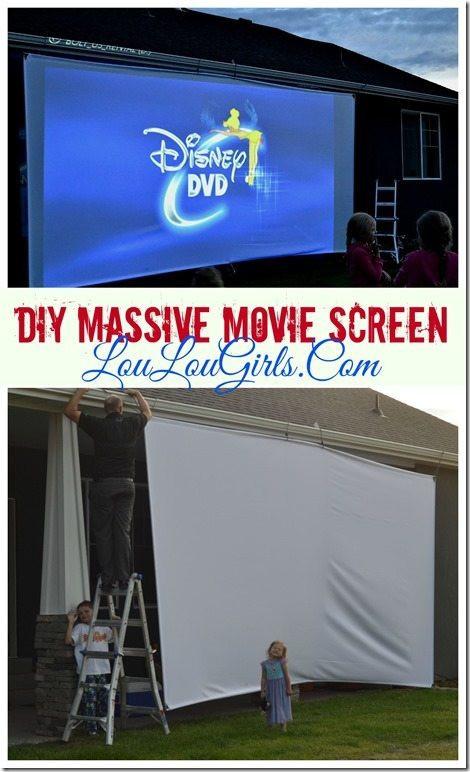 DIY Outdoor Movie Screen Material  DIY Massive Movie Screen Instructions Lou Lou Girls