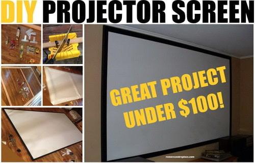DIY Outdoor Movie Screen Material  DIY Projector Screen For Under $100 Dollars