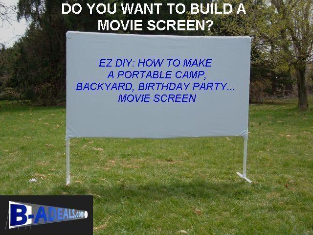 DIY Outdoor Movie Screen Material  DIY Projector Screen Material Projection Screen Frames