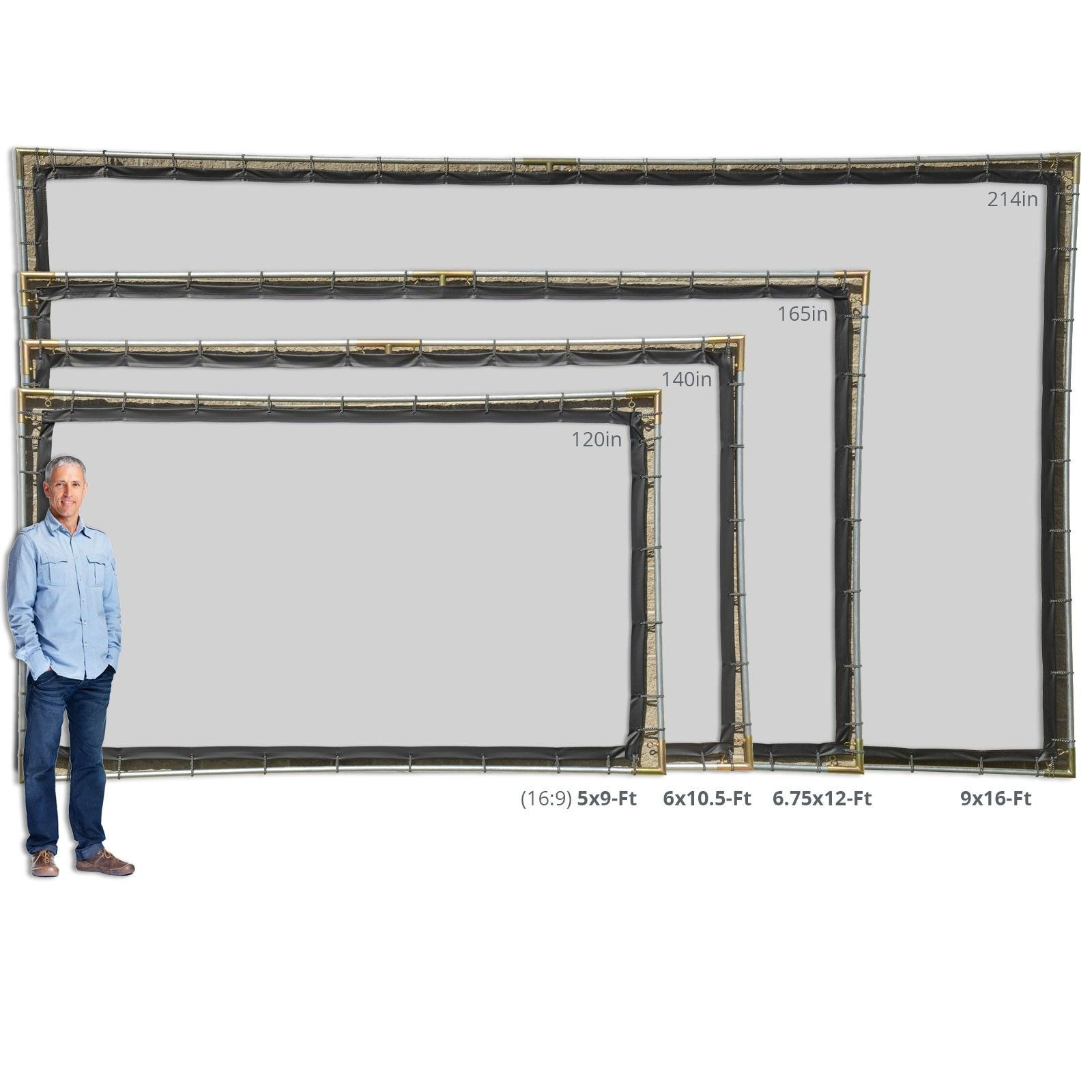DIY Outdoor Movie Screen Material  Hanging Projector Screen Kits