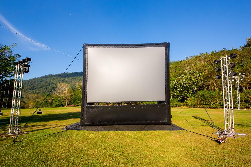 DIY Outdoor Movie Screen Material  best outdoor projector screen diy projector screen