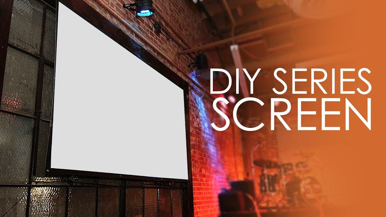 DIY Outdoor Movie Screen Material  Elite Screens DIY Series