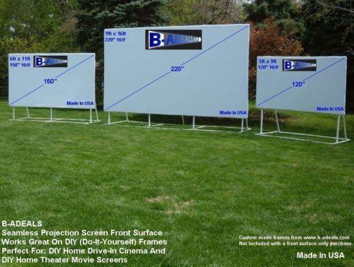 DIY Outdoor Movie Screen Material  9x16 220 16 9 DIY Projector Screen Material Outdoor Movie