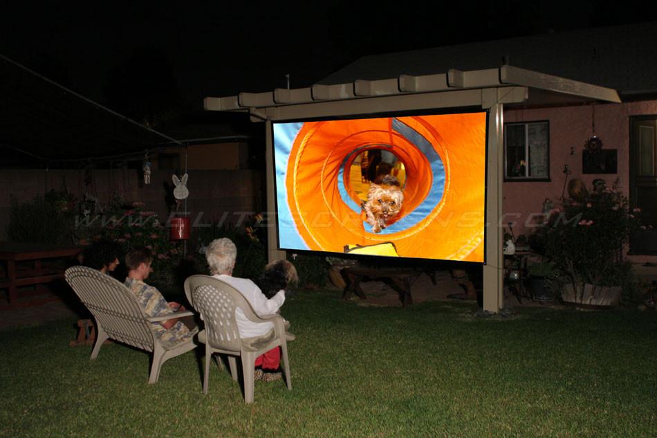 DIY Outdoor Movie Screen Material  Elite Screens DIY Pro Rear Series Do It Yourself Indoor