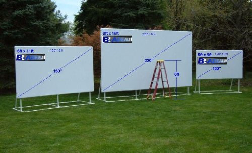 DIY Outdoor Movie Screen Material  Galleon 5x9 120 Inch 16 9 Projection Projector Screen