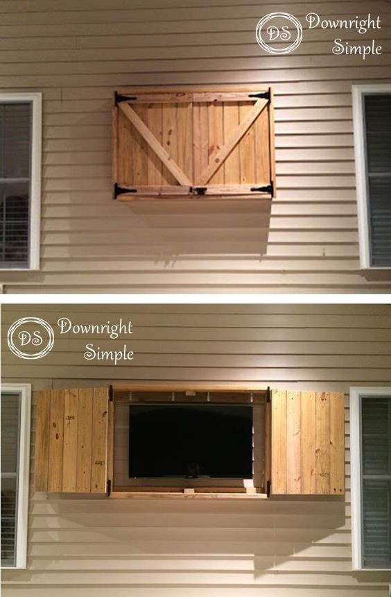 DIY Outdoor Tv Cabinet  20 Awesome Outdoor DIY Projects