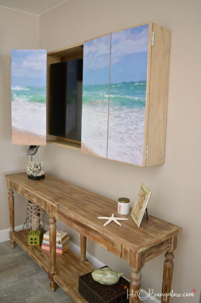 DIY Outdoor Tv Cabinet  DIY Wall Mounted TV Cabinet with Free Plans H20Bungalow