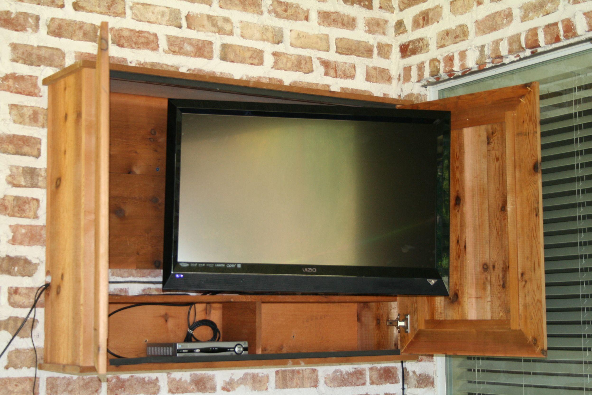 DIY Outdoor Tv Cabinet  Outdoor TV cabinet for the patio DIY