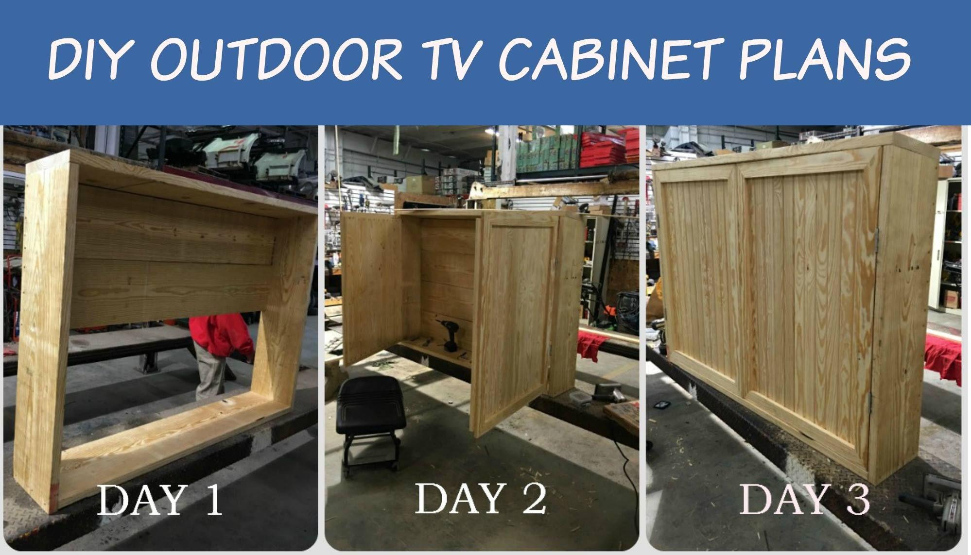 DIY Outdoor Tv Cabinet  Wooden Outdoor Tv Enclosure