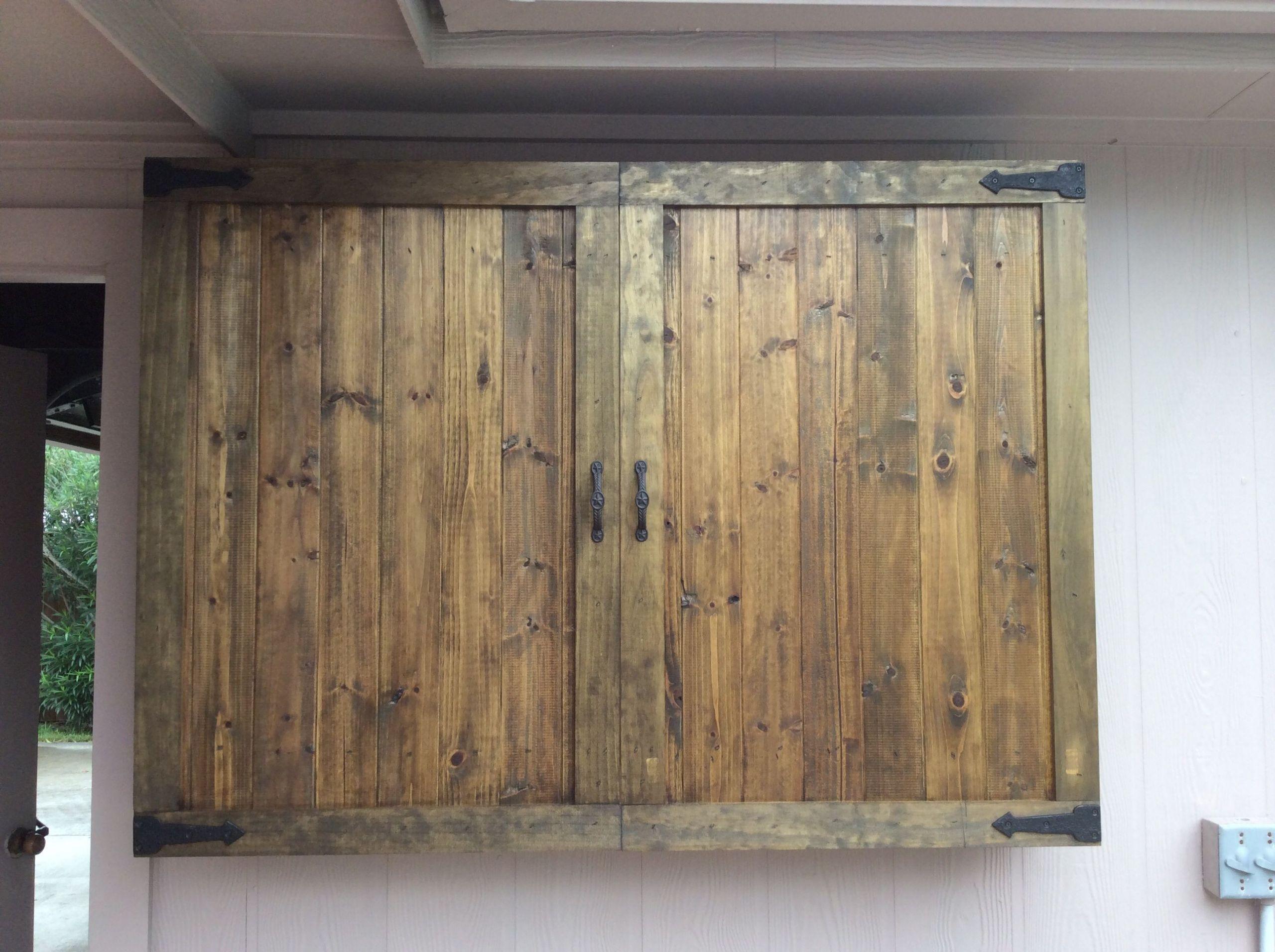 DIY Outdoor Tv Cabinet  Outdoor TV Cabinet