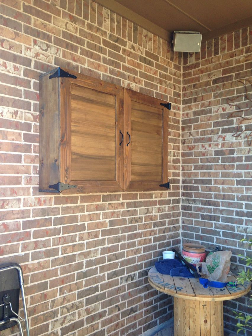 DIY Outdoor Tv Cabinet  Outside tv cabinet