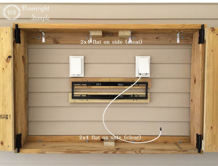 DIY Outdoor Tv Cabinet  Downright Simple Outdoor TV Cabinet