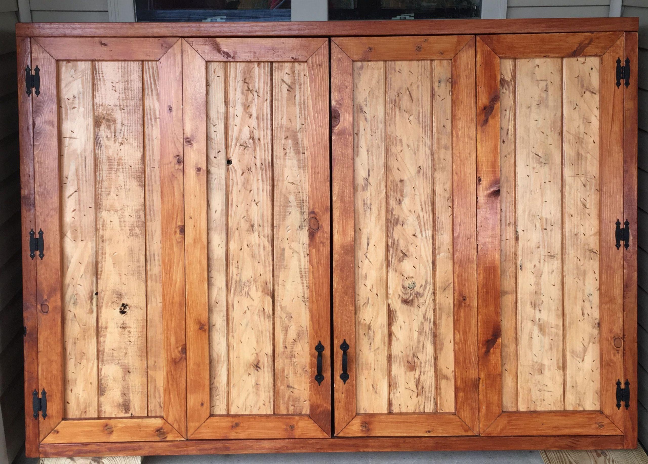 DIY Outdoor Tv Cabinet  Outdoor TV Cabinet with Bi Fold Doors Building Plan