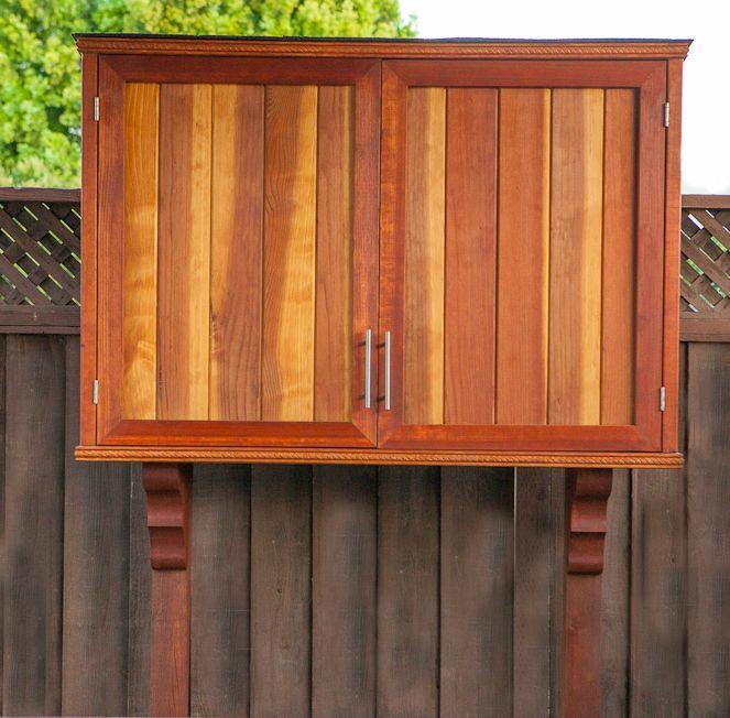 DIY Outdoor Tv Cabinet  Outdoor TV Cabinet with Double Doors Building Plan