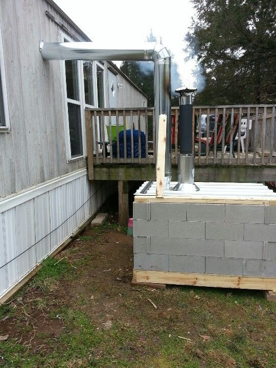 DIY Outdoor Wood Furnace  A cheap out side wood stove that works great